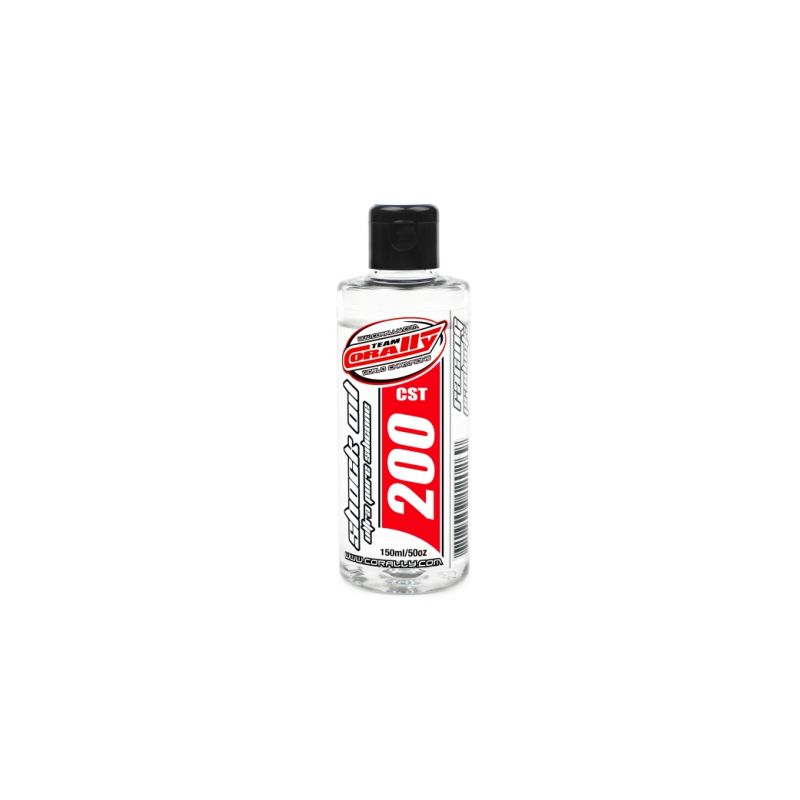 TEAM CORALLY - silikonový olej do tlumičů 200 CPS (150ml) - 1