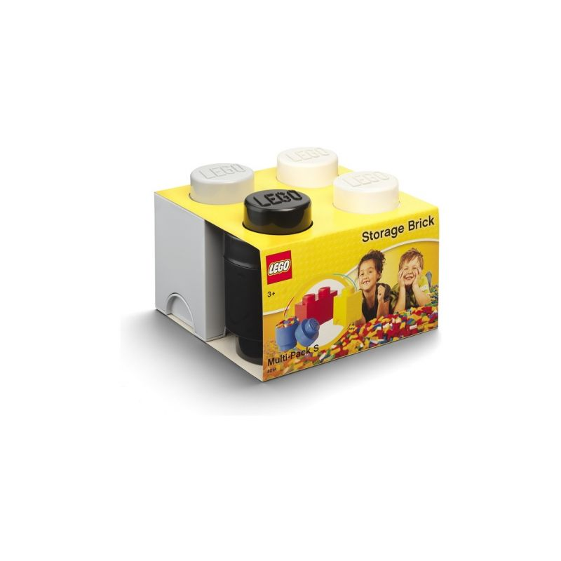 LEGO úložné boxy Multi-Pack černá, bílá, šedá - 3ks - 1