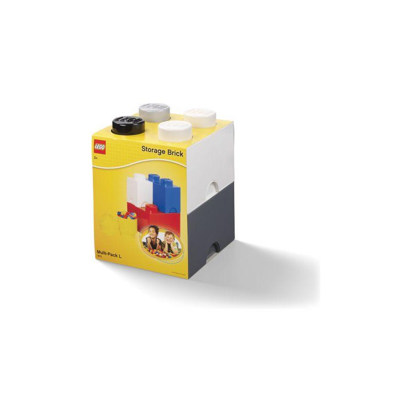 LEGO úložné boxy Multi-Pack černá, bílá, šedá - 4ks - 1