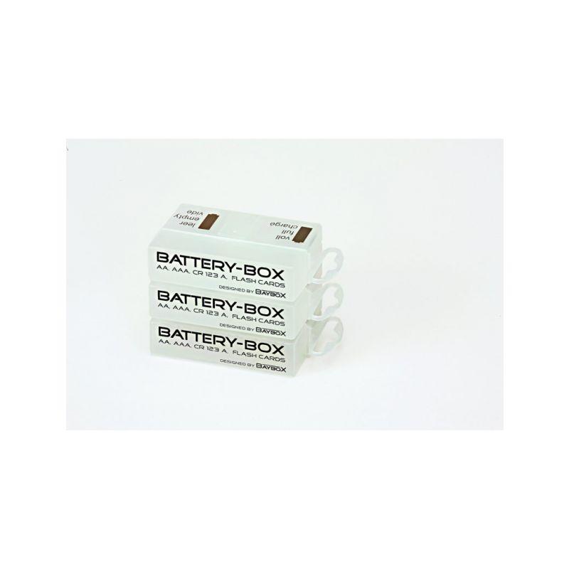 Battery BOX pro skladování a přepravu 1-4 AA, AAA baterek, 1 ks. = 1 BOX. - 1