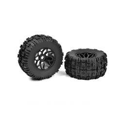 Off-Road 1/8 MT gumy - Mud Claws - nalepené na černých diskách - 1 pár - 1