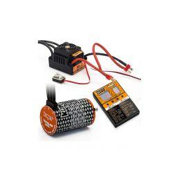 COMBO BRUSHLESS 100Amp WP s 4P 4268SL 1900Kv motorem + programovací karta - 1