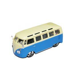 Bburago Plus Volkswagen Van Samba 1:32 modrá - 1