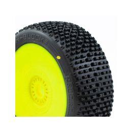 H-BLOCK V2 BUGGY C2 (SOFT) nalepené gumy, žluté disky (2 ks.) - 1