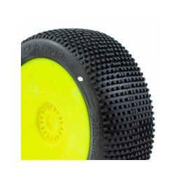 CLAYMORE V2 BUGGY C1 (SUPER SOFT) nalepené gumy, žluté disky (2 ks.) - 1