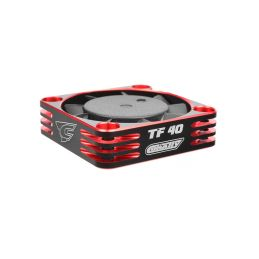 Ultra High Speed hliníkový větráček 40mm, černo/červený - 6-8,4V - konektor BEC černý - 1