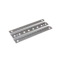 Přejezdové plechy 1:10, 1ks, kovové, profilované, stříbrné - 1