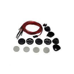 Kulaté přídavné LED světla, černá (4 ks.) - 1