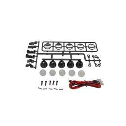 Kulaté přídavné LED světla, černé (5 ks.) - 1