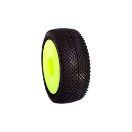 1/8 TERMINATOR COMPETITION OFF ROAD gumy nalepené gumy, SUPER SOFT směs, žluté disky, 2ks. - 1