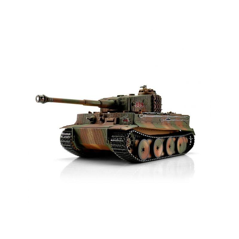 TORRO tank PRO 1/16 RC Tiger I střední verze vícebarevná kamufláž - infra IR - Servo - 1