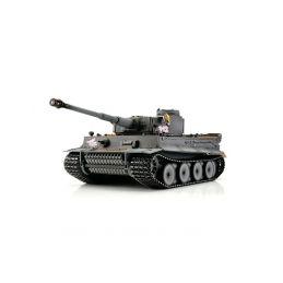 TORRO tank PRO 1/16 RC Tiger I dřívější verze šedá kamufláž - infra IR - kouř z hlavně - 1