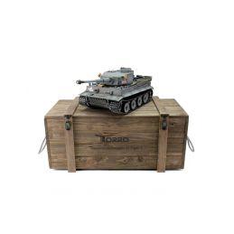 TORRO tank PRO 1/16 RC Tiger I dřívější verze šedá kamufláž - infra IR - kouř z hlavně - 3