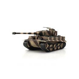 TORRO tank PRO 1/16 RC Tiger I pozdní verze pouštní kamufláž - infra IR - kouř z hlavně - 1