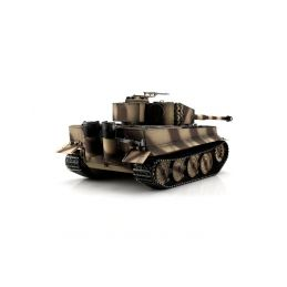 TORRO tank PRO 1/16 RC Tiger I pozdní verze pouštní kamufláž - infra IR - kouř z hlavně - 2