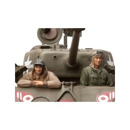 1/16 stavebnice figurek U.S Tanková osádka, 2 ks. - 1
