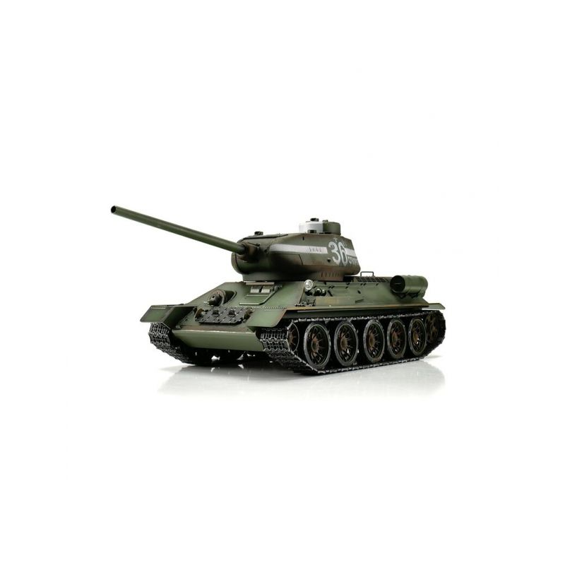 TORRO tank PRO 1/16 RC T-34/85 zelená kamufláž - infra IR - Servo - 1