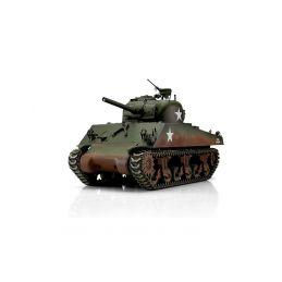 TORRO tank PRO 1/16 RC M4A3 Sherman 75mm kamufláž zelená - infra IR - kouř z hlavně - 1