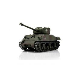 TORRO tank PRO 1/16 RC M4A3 Sherman 76mm maskovací kamufláž - infra IR - kouř z hlavně - 1