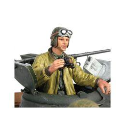 1/16 figurka stojícího velitele tanku US z 2 sv. války, ručně malovaný - 1