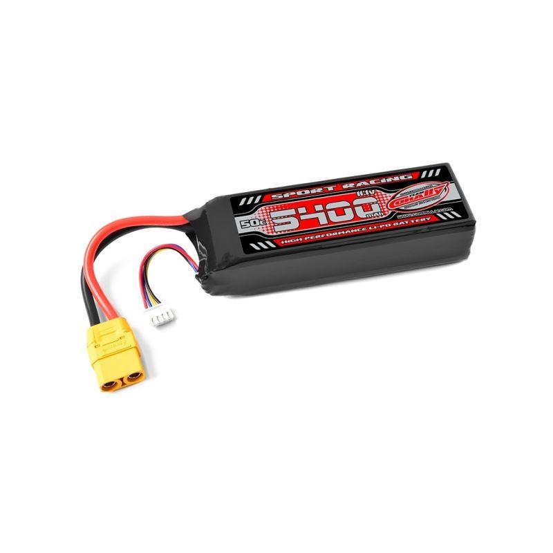 Sport Racing 50C - 5400mAh - 3S - 11,1V - XT-90 - Semi-Soft case (s TRAXXAS adaptérem) - 1