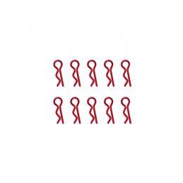 Universální sponky karoserie 1/10, červené (10 ks.) - 1
