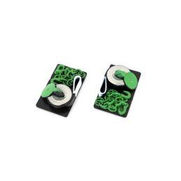 Odtahové pásky a atrapa řetězu, zelené, 2 ks. - 1
