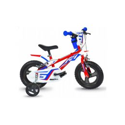 "DINO Bikes - Dětské kolo 12"" červeno/modro/bílé - 1"