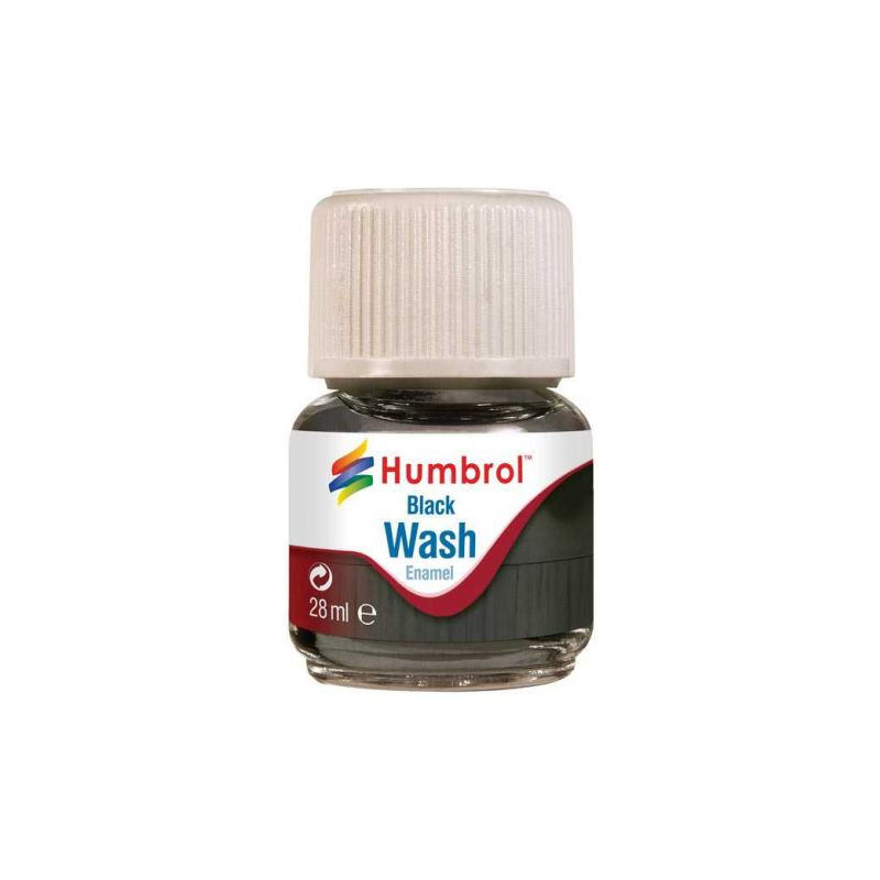 Humbrol barva Enamel AV0201 Wash černá 28ml - 1
