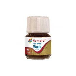 Humbrol barva Enamel AV0205 Wash tmavě hnědá 28ml - 1