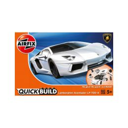 Airfix Quick Build Lamborghini Aventador - bílá - 1