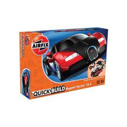 Airfix Quick Build Bugatti Veyron - červená - 1