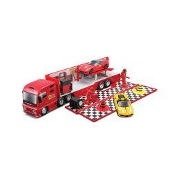 Bburago Ferrari Racing Hauler - 1