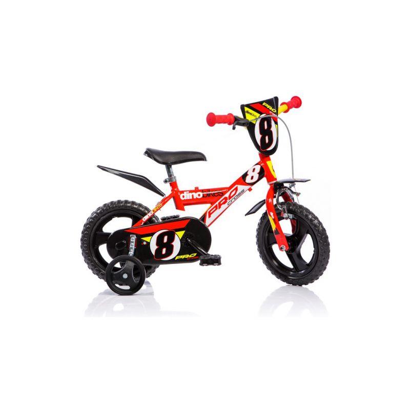 """DINO Bikes - Dětské kolo 12"""" červené - 1"""