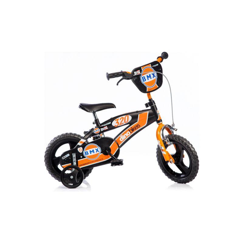 """DINO Bikes - Dětské kolo 12"""" BMX černé - 1"""