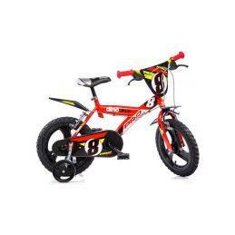 """DINO Bikes - Dětské kolo 16"""" červené - 1"""