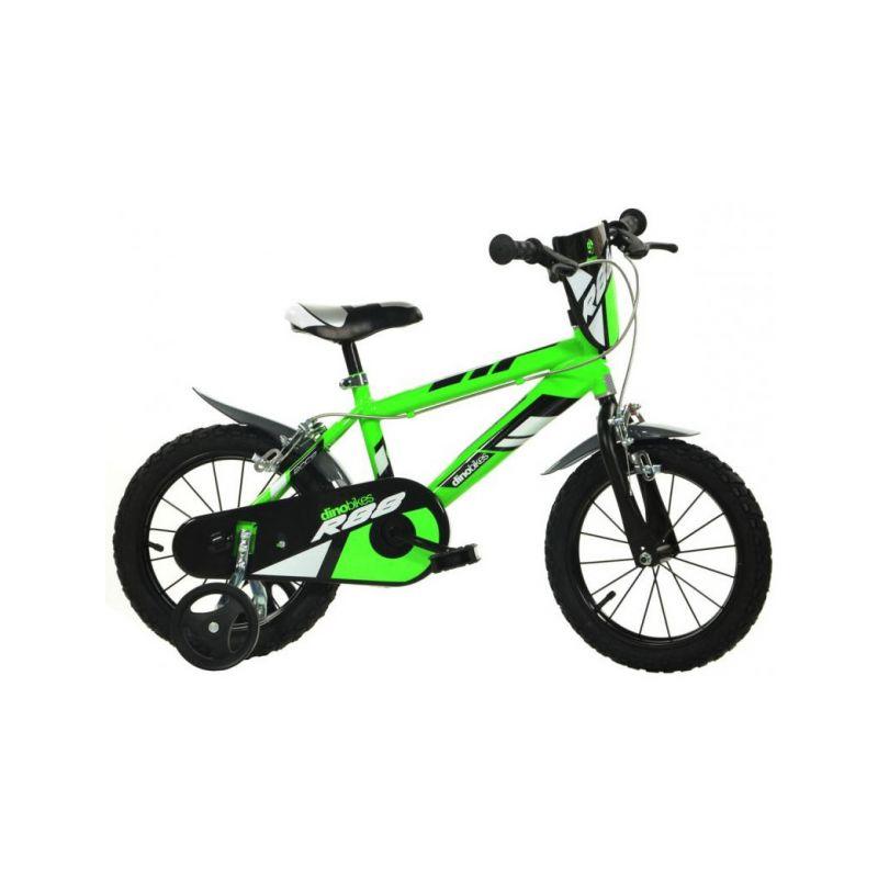 """DINO Bikes - Dětské kolo 14"""" zelené - 1"""