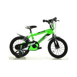 """DINO Bikes - Dětské kolo 16"""" zelené - 1"""