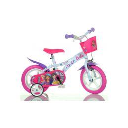 """DINO Bikes - Dětské kolo 12"""" Barbie s košíkem - 1"""