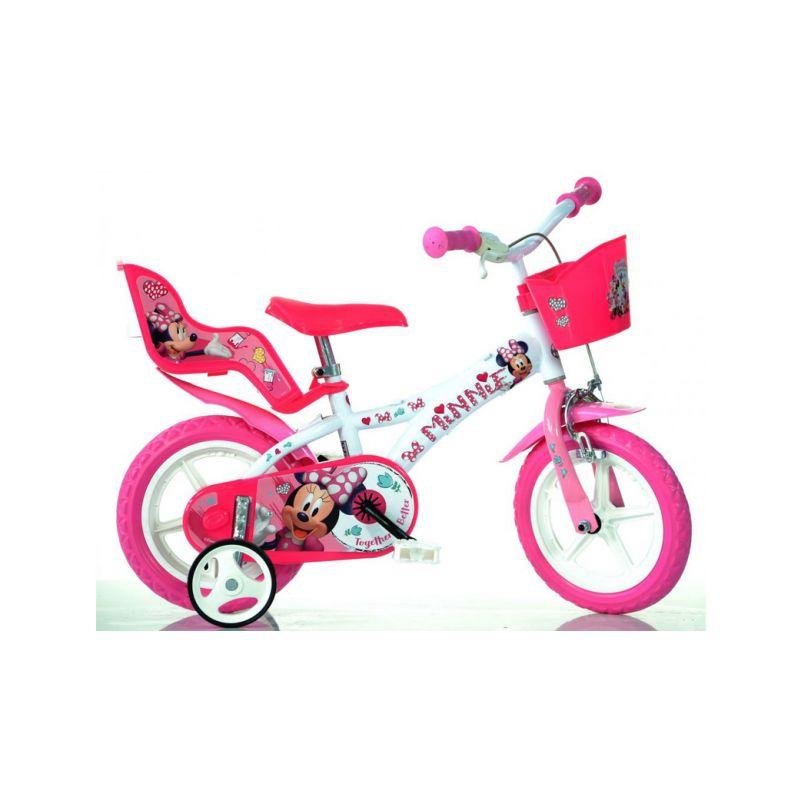 "DINO Bikes - Dětské kolo 12"" Minnie se sedačkou pro panenku a košíkem - 1"