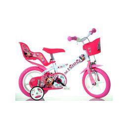 "DINO Bikes - Dětské kolo 12"" Minnie se sedačkou pro panenku a košíkem - 2"