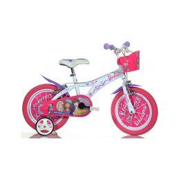 """DINO Bikes - Dětské kolo 14"""" Barbie s košíkem - 1"""