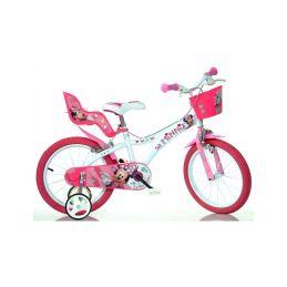 "DINO Bikes - Dětské kolo 14"" Minnie se sedačkou pro panenku a košíkem - 1"