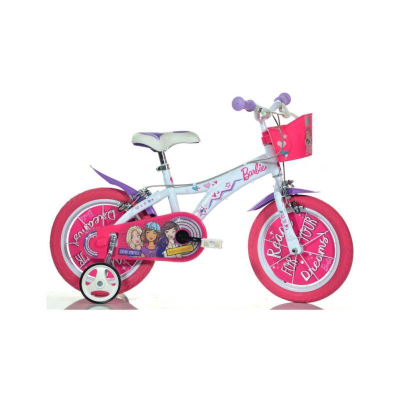 """DINO Bikes - Dětské kolo 16"""" Barbie s košíkem - 1"""