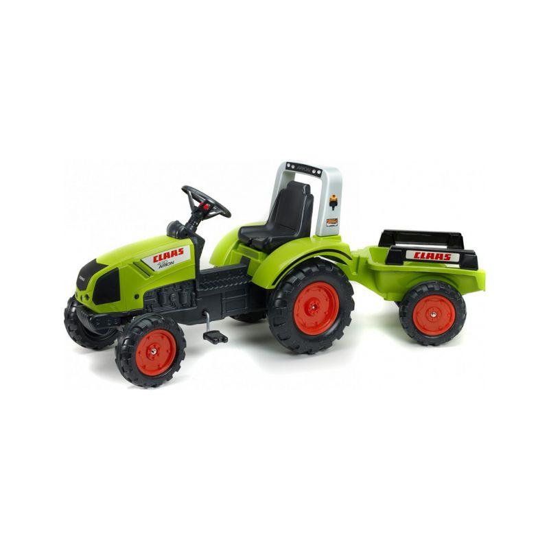 FALK - Šlapací traktor Claas Arion 430 s vlečkou - 1
