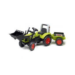 FALK - Šlapací traktor Claas Arion 430 s nakladačem a vlečkou - 1