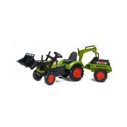 FALK - Šlapací traktor Claas Arion 430 s nakladačem, rypadlem a vlečkou - 1