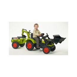 FALK - Šlapací traktor Claas Arion 430 s nakladačem, rypadlem a vlečkou - 2