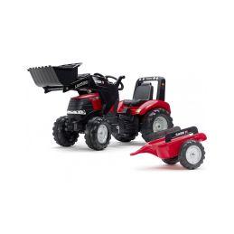 FALK - Šlapací traktor Case IH Puma 240CVX s nakladačem a vlečkou - 1