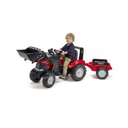 FALK - Šlapací traktor Case IH Puma 240CVX s nakladačem a vlečkou - 2